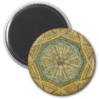 Aimant Mosquée de Cordoue Espagne. Coupole de Mihrab