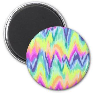 Aimant Motif au néon abstrait coloré chic de Chevron