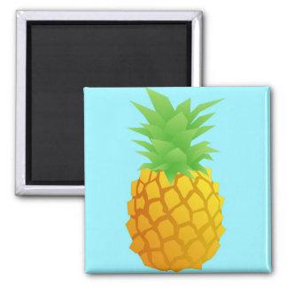 Aimant Motif d'ananas sur le bleu
