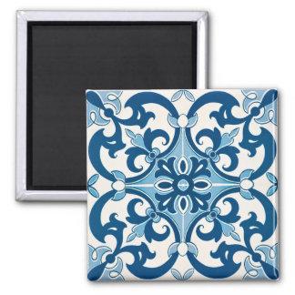 Aimant Motif d'Azulejo Fleur De Lis Style