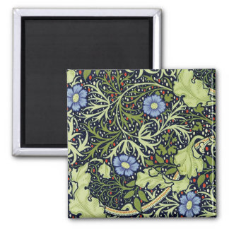 Aimant Motif de papier peint d'algue de William Morris