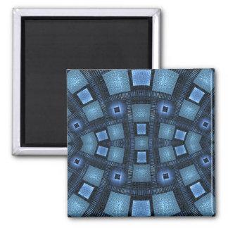 Aimant Motif géométrique d'abrégé sur bleu mouvements