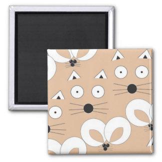 Aimant Motif Tan de chat et de souris