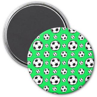 Aimant Motif vert au néon de ballon de football
