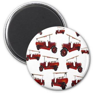 Aimant Motif vintage rouge de camion de pompiers,