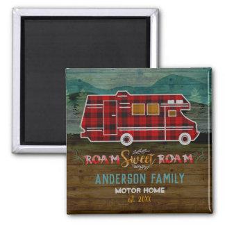 Aimant Motorhome rv Camper Travel Van Rustic Personalized