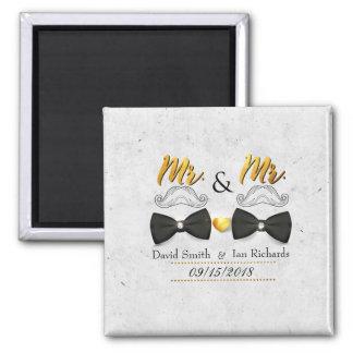 Aimant Moustache et arc pour M. et M.