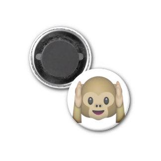 Aimant N'entendez aucun singe mauvais - Emoji