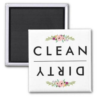 Aimant NETTOYEZ/aimant SALE de lave-vaisselle