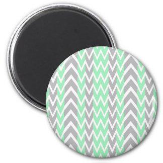Aimant Nettoyez les bosses grises et vertes de Chevron