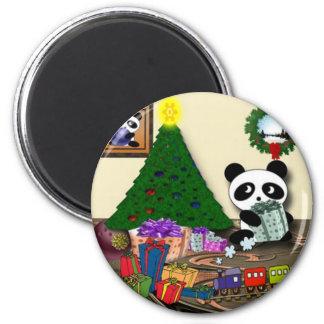 Aimant Noël de panda