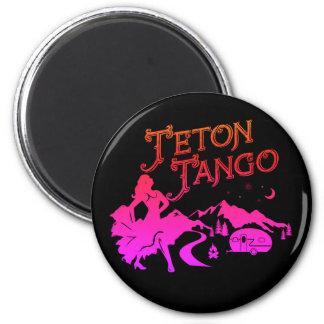 Aimant Noir d'aimant de tango de Teton