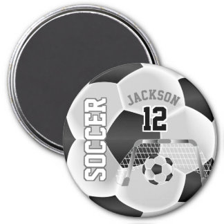 Aimant Noir et blanc personnalisez le ballon de football