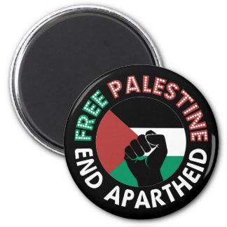 Aimant Noir libre de poing de drapeau d'apartheid de fin