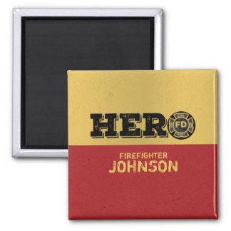 Aimant Nom fait sur commande, héros de sapeur-pompier