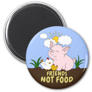 Aimant Nourriture d'amis pas - porc et poulet mignons