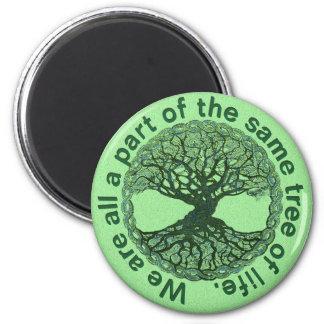 Aimant Nous sommes tous une partie de l'arbre de la vie