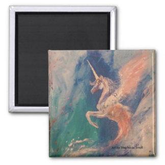 Aimant Nuage à ailes de Pegasus de licorne