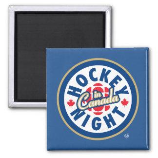 Aimant Nuit d'hockey dans le logo du Canada