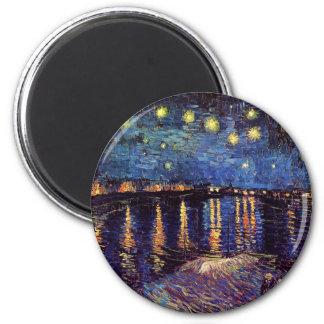 Aimant Nuit étoilée au-dessus du Rhône par Van Gogh
