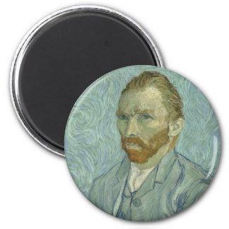 Aimant Oeuvre d'art classique d'autoportrait de Vincent