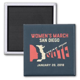 Aimant officiel de mars San Diego mars des femmes