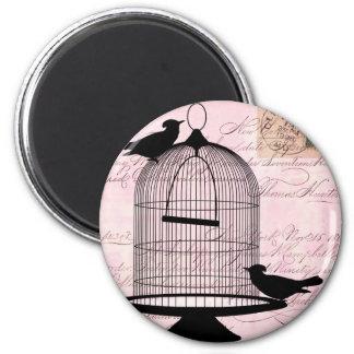 Aimant Oiseau et cage Steampunk