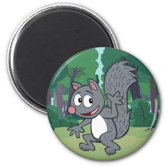 Aimant Ondulation grise d'écureuil de Rick | de garde
