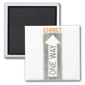 Aimant One Way-Christ Gris Orange