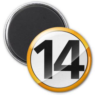 Aimant Or Magent du numéro 14