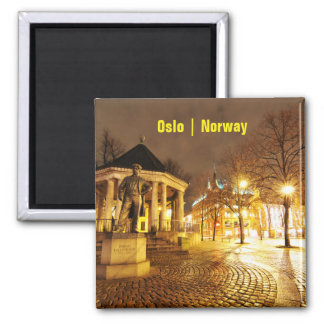 Aimant Oslo, Norvège la nuit
