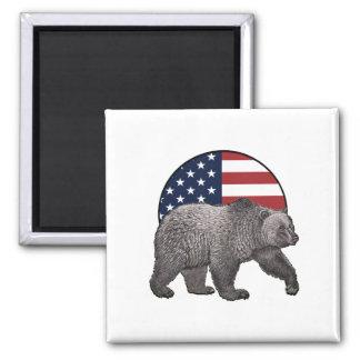 Aimant Ours gris américain