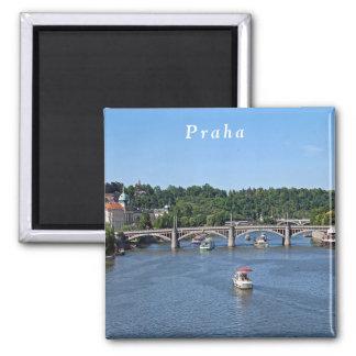 Aimant Panorama de la rivière de Vltava à Prague