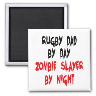 Aimant Papa de rugby de tueur de zombi