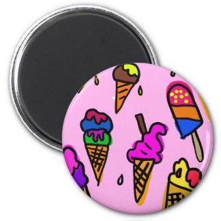 Aimant Papier peint de crème glacée
