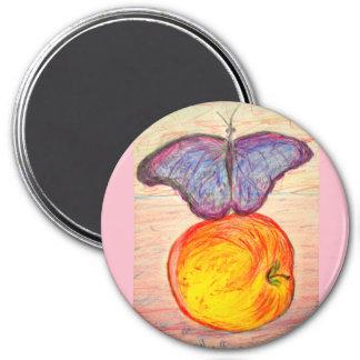Aimant Papillon et Apple