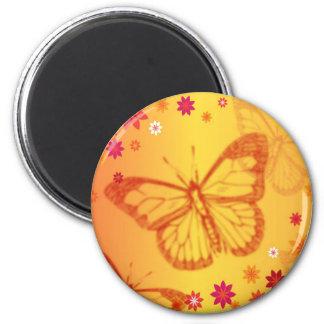 Aimant Papillon orange