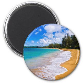 Aimant Paradis tropical de plage, Hawaï