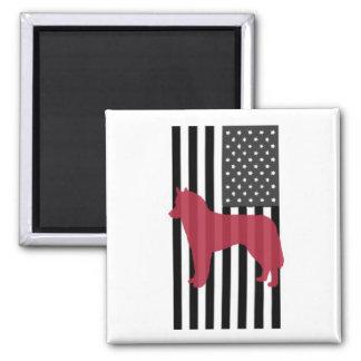 Aimant patriotique de chien de traîneau sibérien