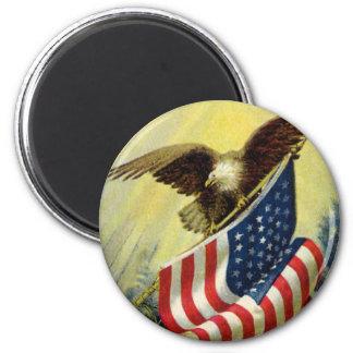 Aimant Patriotisme vintage, drapeau américain patriotique