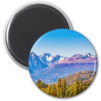 Aimant Paysage de lac et de montagnes, Patagonia, Chili