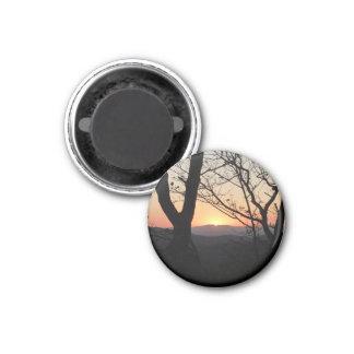 Aimant Paysage de parc national de coucher du soleil de