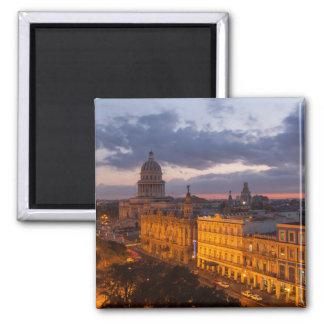 Aimant Paysage urbain au coucher du soleil, La Havane,