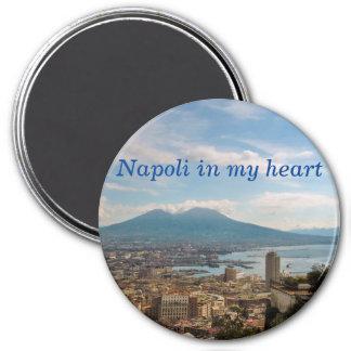 Aimant paysage urbain de Naples