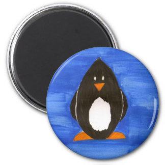 Aimant peint de pingouin