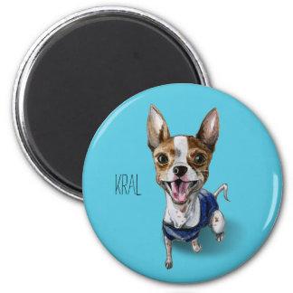 Aimant Peinture personnalisable d'aquarelle de chien de