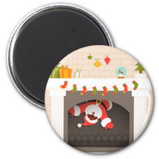Aimant père Noël noir coincé en cheminée