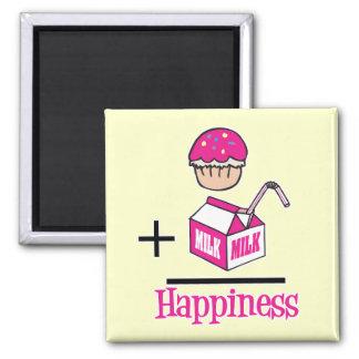 Aimant Petit gâteau plus le bonheur de lait