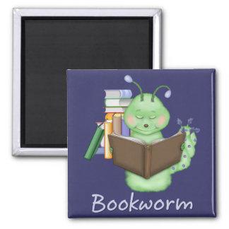 Aimant Petit rat de bibliothèque vert
