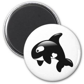 Aimant Petite baleine mignonne d'orque